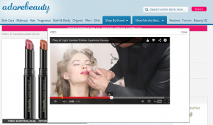 Australia's Adore Beauty uses video demonstrations to help guide shoppers' decisions.