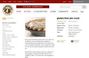 King Arthur Flour Gluten Free Pie Crust