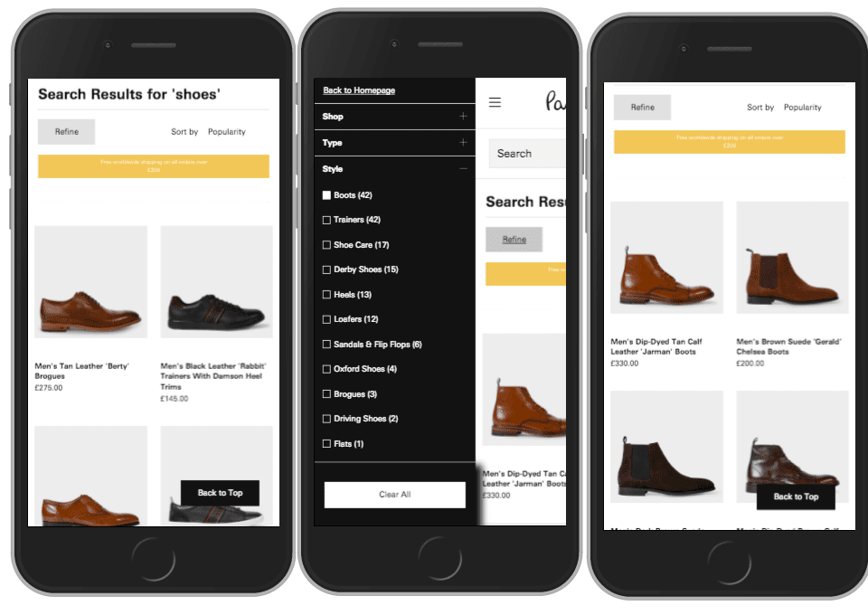 SLI Mobile Experience for Magento