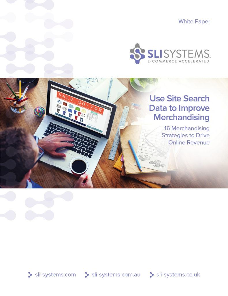 Online Merchandising with Site Search Data White Paper