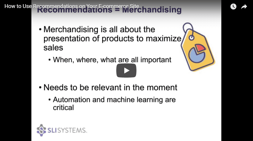 How to Use Ecommerce Recommendations Engine Video - SLI Systems