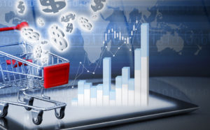 Shopping online concepts