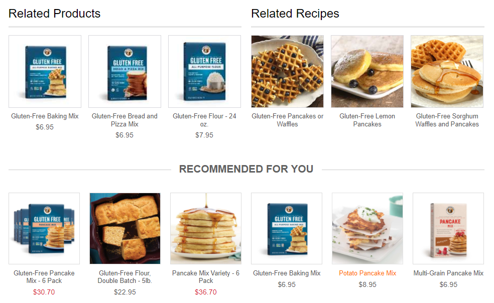 Personalized Product Recommendations Engine - King Arthur Flour