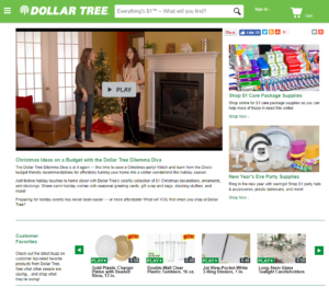 video merchandising for ecommerce - Dollar Tree